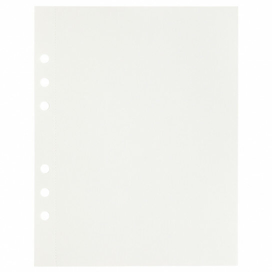 (Art.no. 920808) 20 vel MyArtBook Paper 120 GSM Offwhite drawingpaper Size 165 x 210 mm (A5) - 6 punch holes - perforation