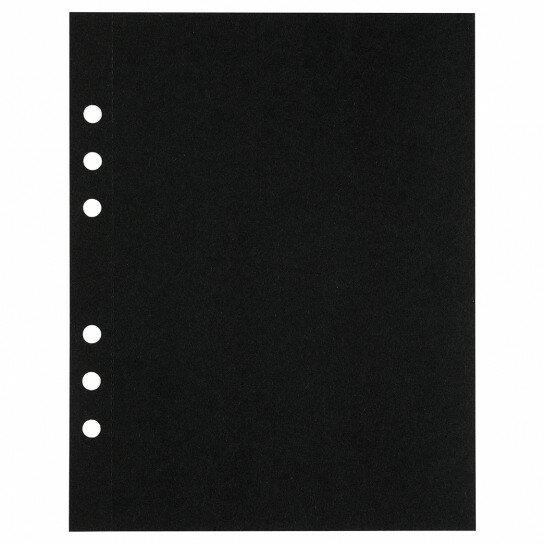 (Art.no. 920811) 10 vel MyArtBook Paper 210 GSM Black drawingpaper Size 165 x 210 mm (A5) - 6 punch holes - perforation