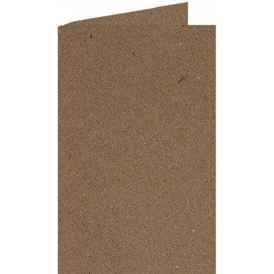 (No. 309323) 6x Dubbele kaart A6 kraft bruin 105x148mm 220 grams (FSC Recycled 100%)