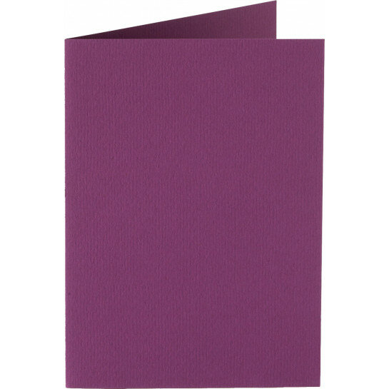 (No. 313909) 6x kaart dubbel staand Original 148x210mmA5 aubergine 200 grams (FSC Mix Credit)