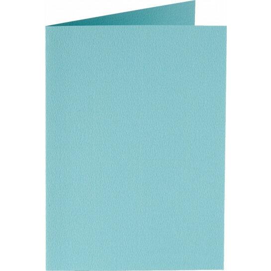 (No. 223904) 50x kaart dubbel staand 84x132mm azuurblauw 200 grams