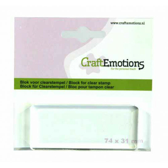 (No. 130501/1913) CraftEmotions blok voor clearstempel 74x31mm - 8mm