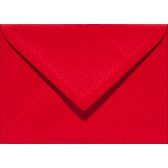 (No. 332918) 6x kaart dubbel staand 54x86 pl Basic rood 100 200 grams (FSC Mix Credit)