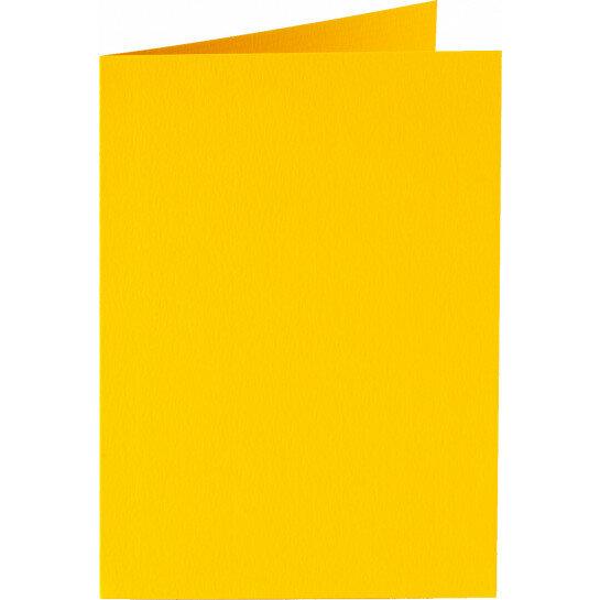 (No. 222910) 50x kaart dubbel staand 105x148mm- A6 dottergeel 200 grams (FSC Mix Credit)