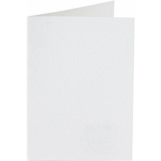 (No. 309930) 6x kaart dubbel staand Original 105x148mmA6 hagelwit 200 grams (FSC Mix Credit)