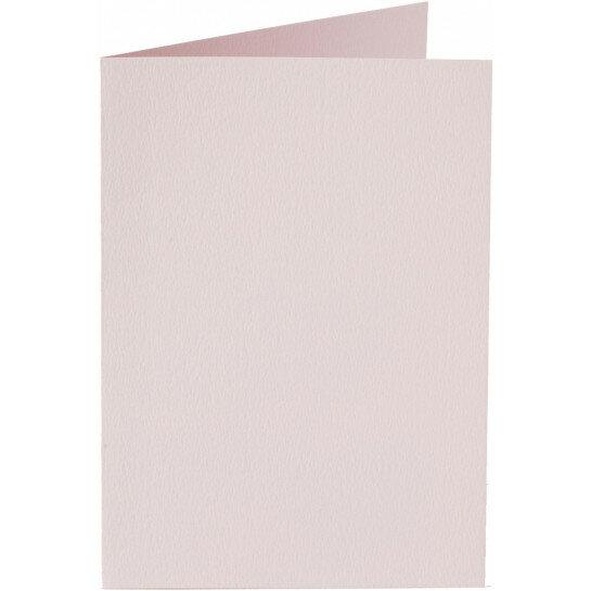 (No. 327923) 6x kaart dubbel staand Original 115x175mm lichtroze