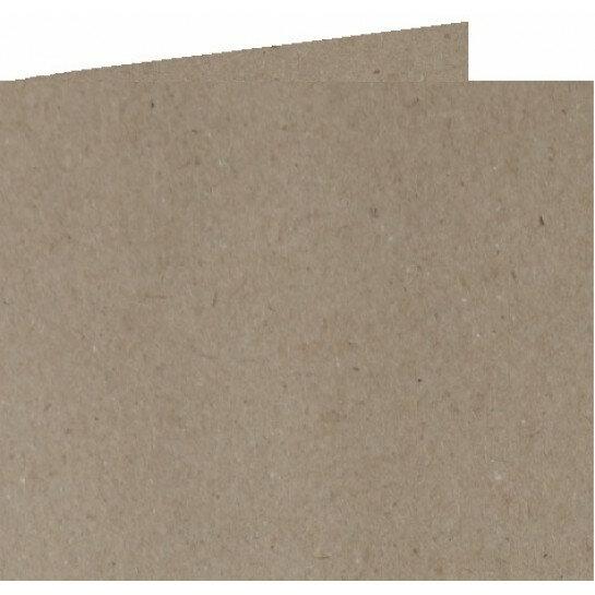 (No. 310322) 6x Dubbele kaart 132x132mm kraft grijs 220 grams (FSC Recycled Credit)