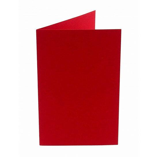 (No. 242918) 50x kaart dubbel staand Original 115x175mm rood 200 grams