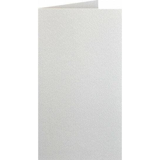 (No. 220331) 50x kaart dubbel staand Original Metallic 105x210mmA5/6 Ivory 250 grams (FSC Mix Credit)