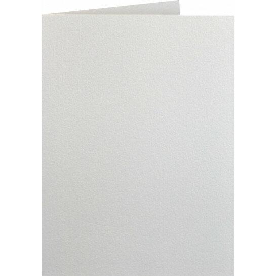 (No. 222331) 50x kaart dubbel staand Original Metallic 105x148mm-A6 Ivory 250 grams