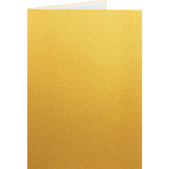 (No. 222339) 50x kaart dubbel staand Original Metallic 105x148mm-A6 Gold Platinum 250 grams