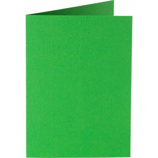 (No. 309907) 6x kaart dubbel staand Original 105x148mmA6 grasgroen 200 grams (FSC Mix Credit)