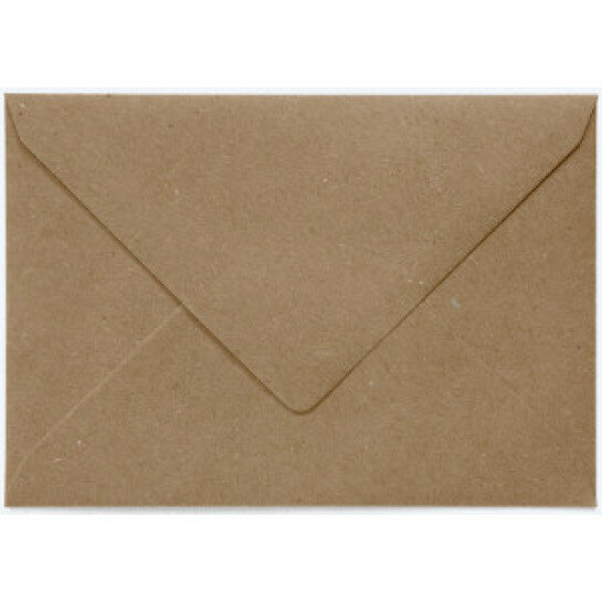 (No. 237323) 50x envelop C6 recycled kraft bruin 114 x 162 mm - 100 grams (FSC Recycled 100%)