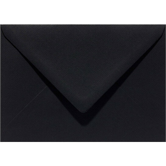 (No. 270901) 50x envelop 60x90mm ravenzwart 105 grams (FSC Mix Credit) - UITLOPEND -