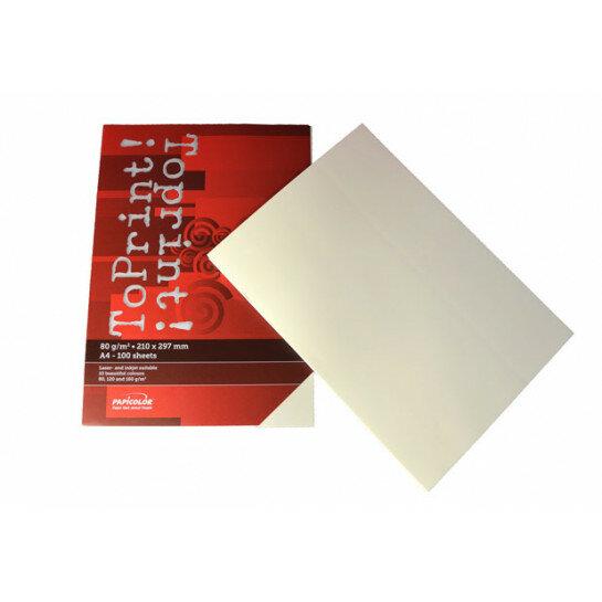 (No. 7128311) 100x papier ToPrint 80gr 210x297mm-A4 Ivory(FSC Mix Credit)