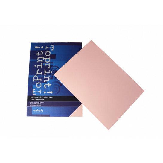 (No. 7138302) 100x papier ToPrint 120gr 210x297mm-A4 Rosa(FSC Mix Credit)