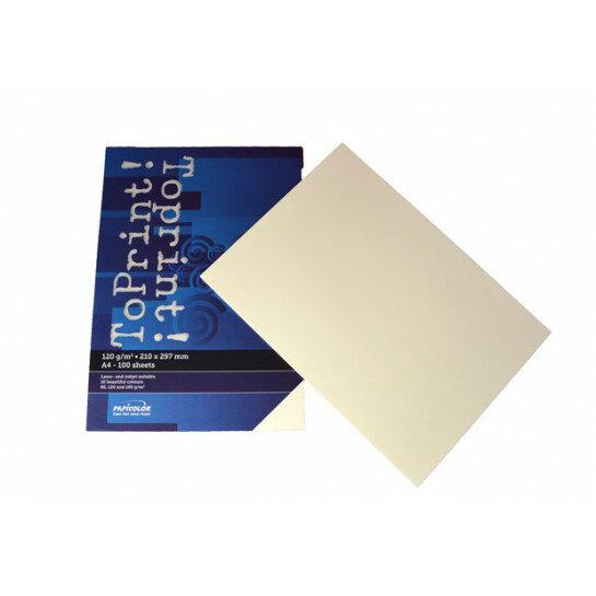 (No. 7138311) 100x papier ToPrint 120gr 210x297mm-A4 Ivory(FSC Mix Credit)