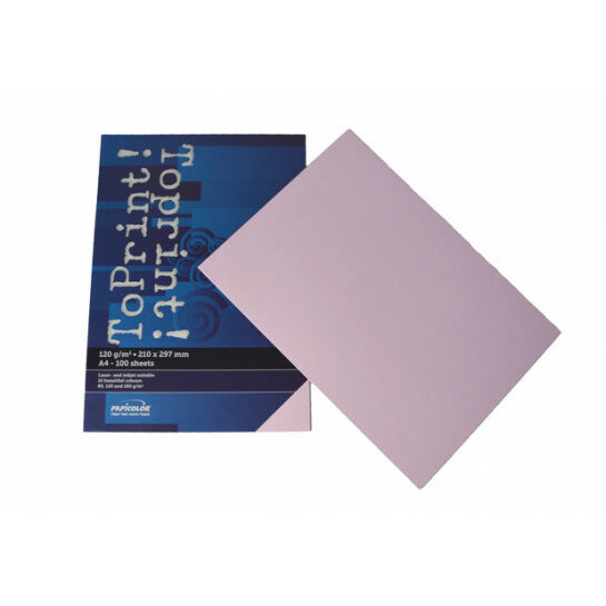 (No. 7138336) 100x papier ToPrint 120gr 210x297mm-A4 Lavender(FSC Mix Credit)