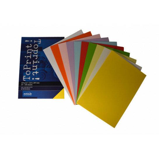 (No. 7138380) 10x25 kleuren papier ToPrint 120gr 210x297mm-A4 Assorti(FSC Mix Credit)