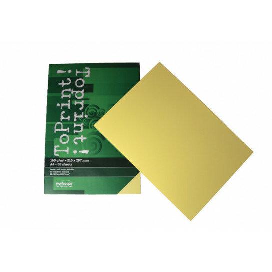 (No. 7148304) 50x karton ToPrint 160g 210x297mm-A4 Medium yellow(FSC Mix Credit)