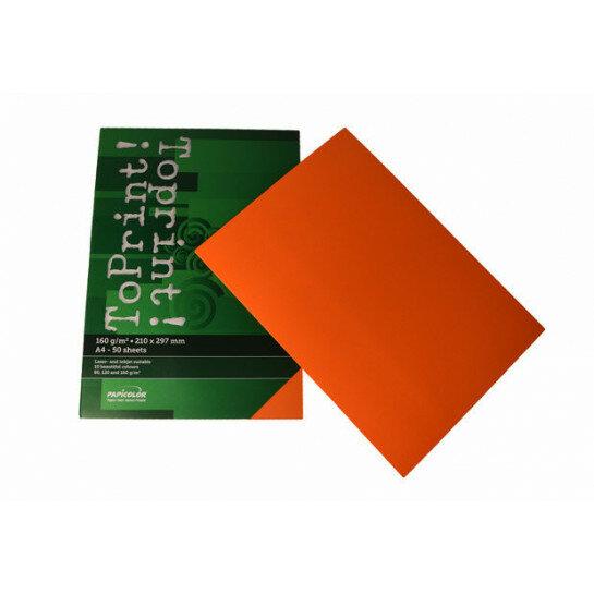 (No. 7148308) 50x karton ToPrint 160g 210x297mm-A4 Orange(FSC Mix Credit)