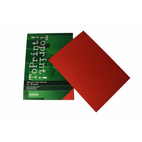 (No. 7148309) 50x karton ToPrint 160g 210x297mm-A4 Red(FSC Mix Credit)