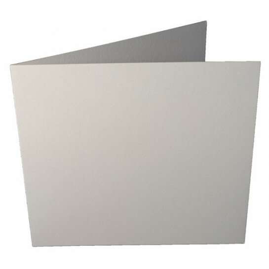 (No. 265330) 50x kaart dubbel Original Metallic 120x132mm Pearlwhite 200 grams (FSC Mix Credit)