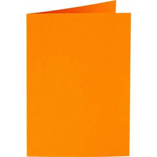 (No. 309911) 6x kaart dubbel staand Original 105x148mmA6 oranje 200 grams (FSC Mix Credit)