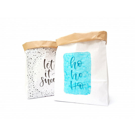 (No. 82104) Set a 2 Medium Paperbag Xmas designed by Carla Kamphuis