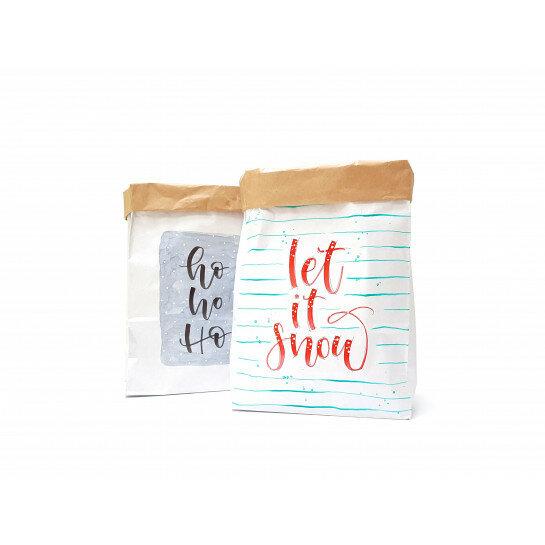 e3b601254b 82105) Set a 2 Small Paperbag Xmas designed by Carla Kamphuis