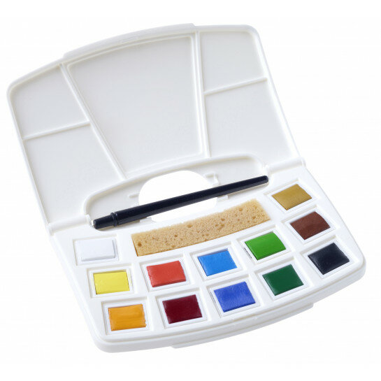 (No. 9022112M) Water Colour Pocketbox 12 colours