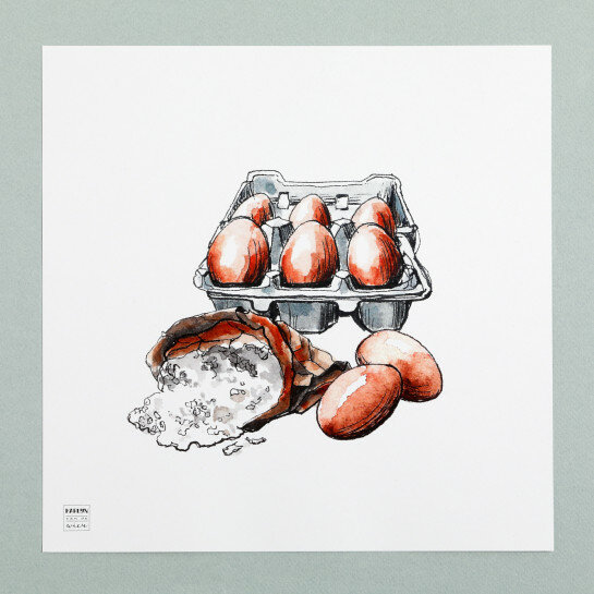 (Art.no. 910015) Poster 'Grocery' Eggs Design Karlijn van de Wier