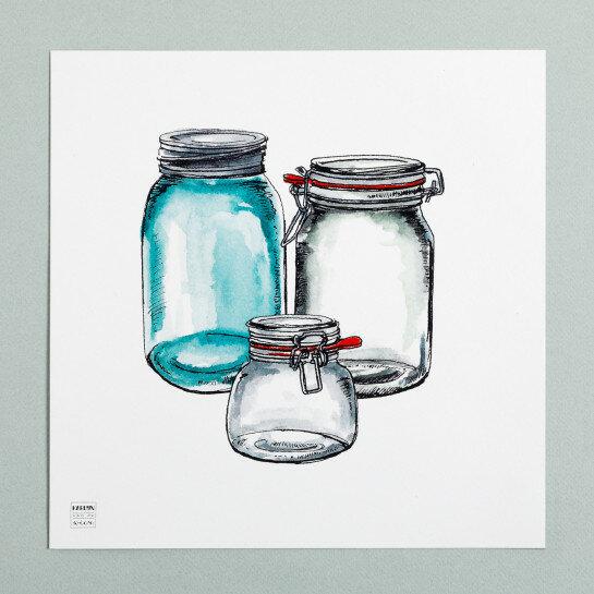 (Art.no. 910012) Poster 'Grocery' Glasses Design Karlijn van de Wier