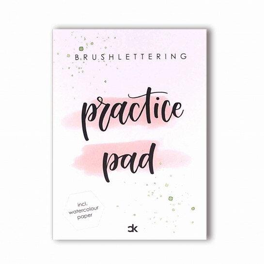 (No. 215602) A5 Practice pad Brushlettering Carla Kamphuis