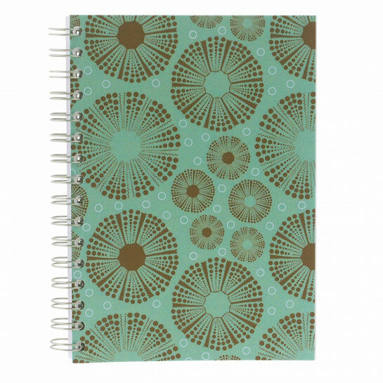 (No. 830301) A5 Bulletjournal Sea Urchin Green/Taupe