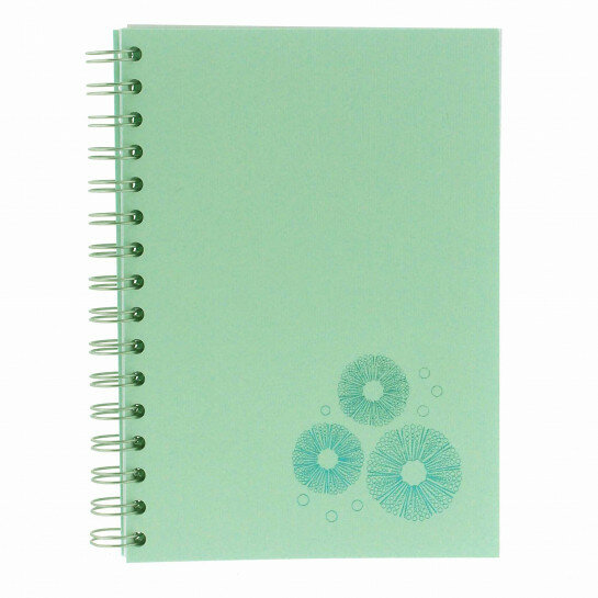 (No. 830300) A5 Bulletjournal Sea Urchin Sea Green