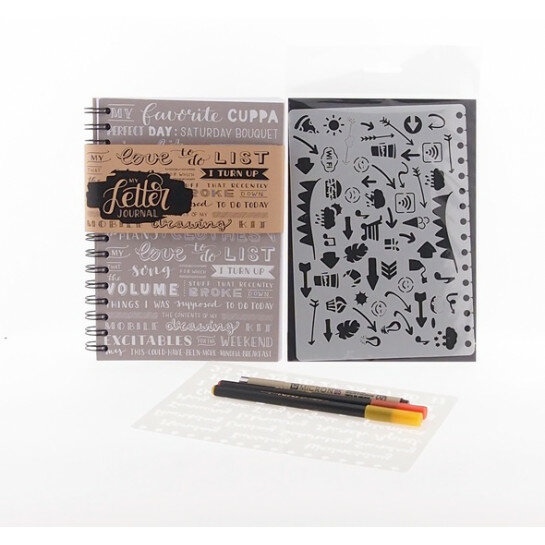 (No. 830133) Set bulletjournal taupe