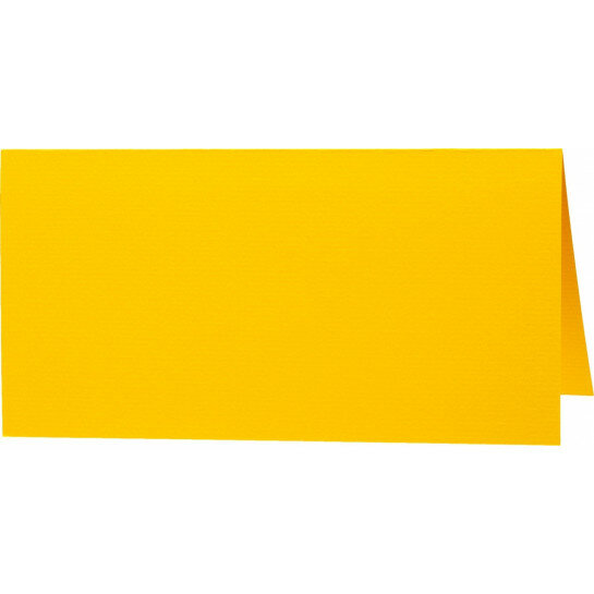 (No. 272910) 50x tafelkaartjes 89x100mm dottergeel 100 200 grams (FSC Mix Credit)