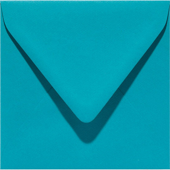 (No. 258932) 50x envelop Original 140x140mm turkoois 105 grams (FSC Mix Credit) OP=OP