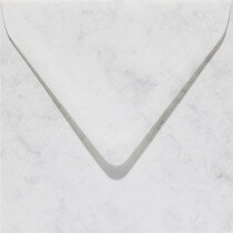 (No. 25861) 50x envelop Marble 140x140mm grijswit 90 grams