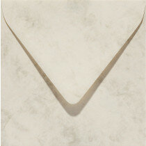 (No. 25862) 50x envelop Marble 140x140mm ivoor 90 grams