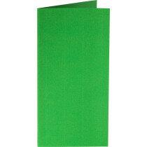 (No. 312907) 6x kaart dubbel staand Original 105x210mmA5/6 grasgroen 200 grams (FSC Mix Credit)