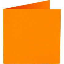 (No. 260911) 50x kaart dubbel Original 132x132mm oranje 200 grams