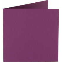 (No. 265909) 50x kaart dubbel staand Original 120x132mm aubergine 200 grams (FSC Mix Credit)
