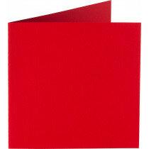 (No. 248918) 50x kaart dubbel staand Original 152x152mm rood 200 grams