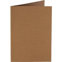 (No. 309939) 6x kaart dubbel staand Original 105x148mmA6 nootbruin 200 grams (FSC Mix Credit)