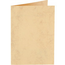 (No. 32263) 6x kaart dubbel staand Marble 115x190mm okergeel 200 grams