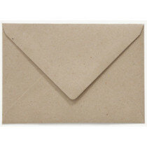(No. 237322) 50x envelop C6 recycled kraft grijs 114 x 162 mm - 100 grams (FSC Recycled Credit)