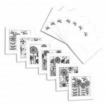 (Art.no. 104283108) Created by Connie 7 x Set 15x15cm dubbele kaart + envelop 7 halen = 6 betalen! Aanbieding!