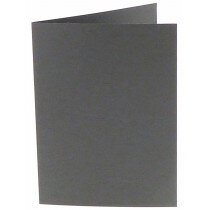 (No. 206971) 50x kaart dubbel staand Original 148x210mm A5 donkergrijs 200 grams (FSC Mix Credit)